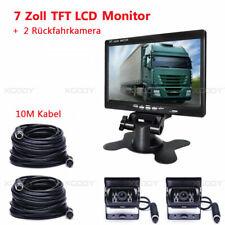 RÜCKFAHRSYSTEM Mit Monitor 2 X Rückfahrkamera 7 Zoll Farbmonitor LKW 4Pin 10M DE