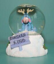 "The Disney Store Eeyore Mini Snowglobe Christmas Winter Reindeer Xing 3"""