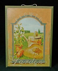 Thomas La Duke Wood Mounted Flower Garden Print Plaque Sign