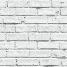VIP White Brick Effect Wallpaper by Arthouse - 623004