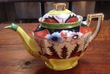 Vtg 1920s Moriyama Mori-Machi Moriage Gold Hand Painted Japan Porcelain Teapot