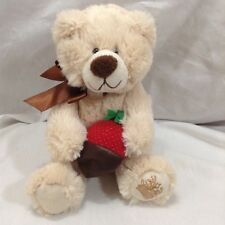 """Edible Arrangements 8"""" Berry Loved Bear 2013 Plush Chocolate Covered Strawberry"""