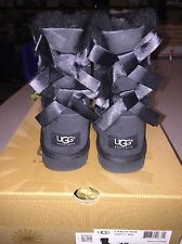 NEW GIRL'S BLACK UGG BAILEY BOW BOOTS SIZE 12 I SHIP EVERYDAY