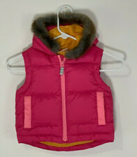 Girls HANNA ANDERSSON Size 80 Toddler 2 Down Hooded Pink Vest