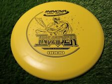 new Invader Dx 175 yellow with black stamp putter & approach Innova disc golf