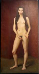 ANTHONY DEVAS RA NEAC (1911-1958) LARGE SIGNED Female Nude Portrait OIL PAINTING