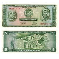 Pick 99c Peru 5 Soles 1974  Unc. / 479587vvv