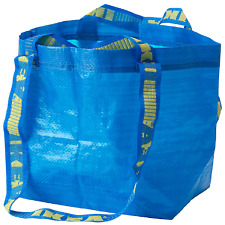IKEA BRATTBY Bag Grocery Laundry Shopping Storage Tote Blue