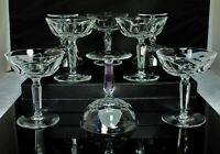 "(8) WATERFORD SHEILA Champagne/Sherbet Glasses CUT CRYSTAL 4.75"" 4oz SUPERB!"