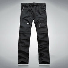 Men's Quick Dry Zip Off Convertible Pants Shorts Outdoor Hiking Cargo Trousers