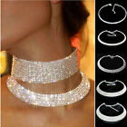 Fashion Women's Crystal Rhinestone Collar Choker Necklace Wedding Party Jewelry