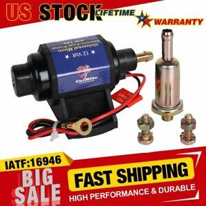 Universal Micro Electric Fuel Pump For 4, 6 & 8 Cylinder Carburetor 4-7psi 35GPH