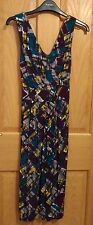 BNWOT PLANET Abstract Multi-Colour Sleeveless Print Dress - Size 10