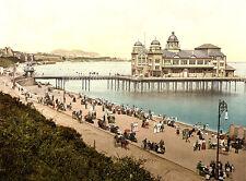 Vintage Edwardian Seaside Photochrome Photo Reprint Colwyn Bay 1 A4