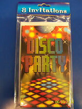 Disco Party 70's Retro Dance Club Theme Birthday Party Invitations w/Envelopes