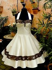 50er Petticoat Braut Tanz Konfirmation Abiball Abend Kleid Dress 34-54 nach Maß