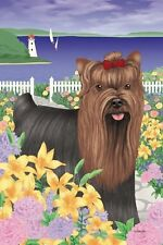 YORKSHIRE Yorkie TERRIER Dog Garden FLAG Flower Dog BREED Puppy Lighthouse NEW