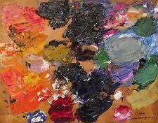 Pierre Ambrogiani - Huile sur panneau - Palette de l'artiste
