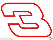 "6"" Austin Dillon Dale Earnhardt Number 3 Richard Childress Racing Window Decals"