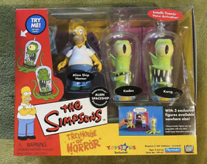 Treehouse Of Horror ALIEN SPACESHIP Kang Kodos and Homer The Simpson's Playmates