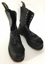 DR MARTENS AIRWAIR STEEL TOE MI/75 C SAFETY SHOES UK PUNK ROCK US SIZE 8 20 hole