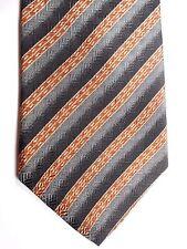 """Kenneth Cole Men's Silk Tie 57.5"""" X 4"""" Multi-Color British Stripes"""