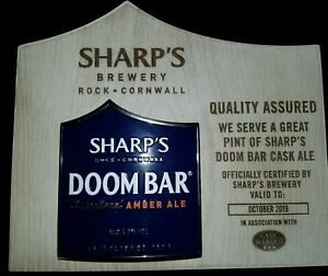 Sharps Doombar wood and metal Plaque pub/bar/mancave