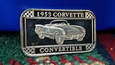RARE!!!! 1953 CORVETTE CONVERTIBLE CHEVROLET GM ISSUE 999 SILVER BAR RARE