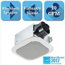 Bathroom Ceiling Exhaust Fan Bluetooth Speaker Galvanized Steel Square White