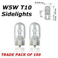 100 x W5W T10 501 Interior cuneo Indicatore NUMERO TARGA sidelight lampadine Pack 12 V