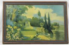 Antique 1927 Litho Print ~ Nature's Charm  ~  Signed and Framed