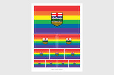 Alberta Pride LGBT Flag Weatherproof Sticker Sheet / Various Sizes