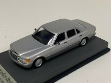 1/43 Minichamps Mercedes S class W140 1991 to 1998 Silver Leather base A1067