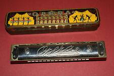 Vintage Opera harmonica w/tin case Made in Germany Us-Zone musical instrument