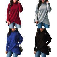 Sweater Womens Jumper Hoodies Pullover Dress Hooded Sleeve Tops Long Sweatshirt