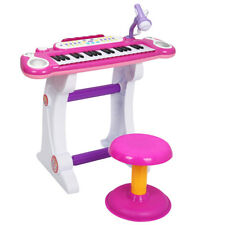 Kids Electronic Keyboard 37 Key Piano Musical Toy w/ Microphone & Stool Pin