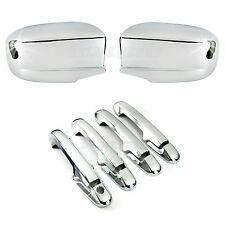 Accessories Chrome Side Mirror + Door Handle Covers For Honda Accord 2003-2007