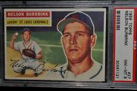 1956 Topps - Nelson Burbrink - #27 - PSA 8 - NM-MT