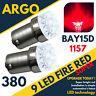 Bay15d Led 1157 Red 380 P21/5w Car Bulb Bright Brake Stop Tail Rear Bulbs 12v