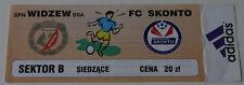 Ticket for collectors EC Widzew Lodz - Skonto Riga 1999 Poland Latvia