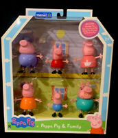 Peppa Pig And Family Figure Grandpa Granny Exclusive Set Of 6 Character Toys New