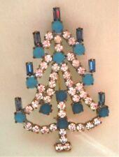 Strass Brosche --- Weihnachten- Weihnachtsbaum- W 143- Gablonz/Böhmen