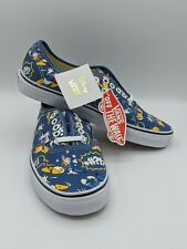 Vans X Disney Donald Duck Theme Authentic Navy Blue Sz US Men's 7 Womens 8.5