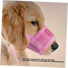 Dog Muzzles, Mesh Dog Mouth Cover Anti Biting Barking Comfortable for Xl Pink