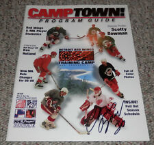 1999 Detroit Red Wings Training Camp Program Chris Osgood Signed Traverse City
