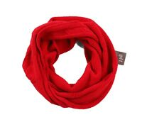 J.Jill Women's NWT Solid Red Cable/Gaiter Knit Chenille Infinity Scarf