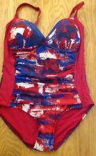 M & S - Pink Mix - Tummy Control Swimming Costume - Size 14 - BNWOT