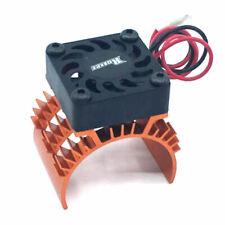 Surpass Rocket 1/10 Aluminum Brushless Motor Heatsink With 30mm Fan Orange New!