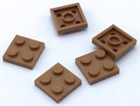 Lego 5 New Dark Orange Plate Pieces 2 x 2
