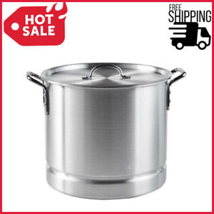 32 Quart Steamer Pot w Lid Removable Steam Tray Large Stockpot Tamales Crab Legs
